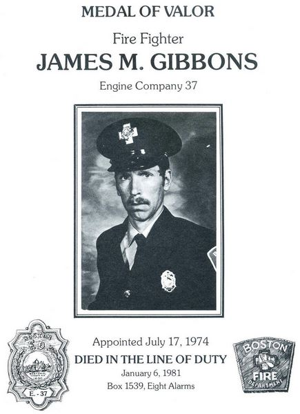 James M. Gibbons Medal of Valor. Courtesy of the Boston Fire Historical Society. http://www.bostonfirehistory.org/citation1981gibbons.jpg