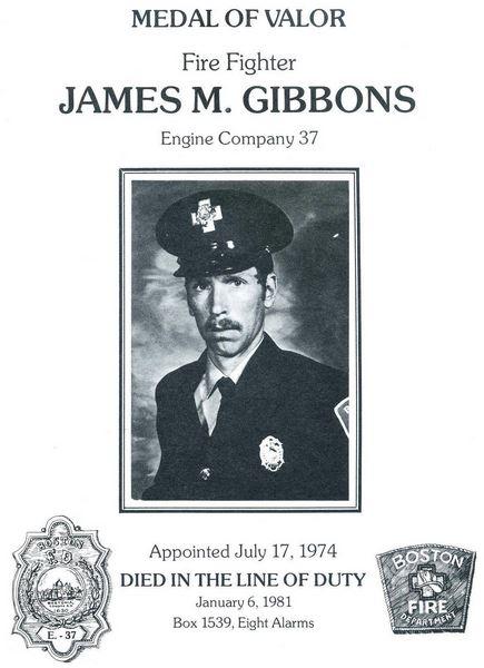 James M. Gibbons Medal of Valor. Courtesy of the Boston Fire Historical Society. http://www.bostonfirehistory.org/citation1981gibbons.jpg