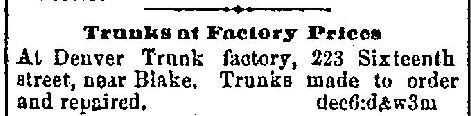 1873-12-06 Denver Trunk Factory Ad