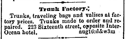 1874-08-16 Denver Trunk Ad