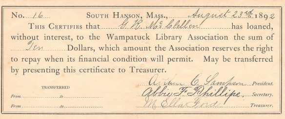 1892mcclellangeorgelibrarydonation